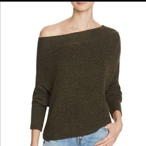 Free People Alana Off the Shoulder Sweater L